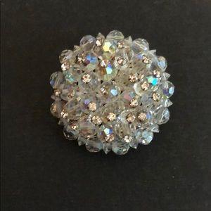 Jewelry - VINTAGE BROACH CRYSTAL GEMS W/A RAINBOW AURA
